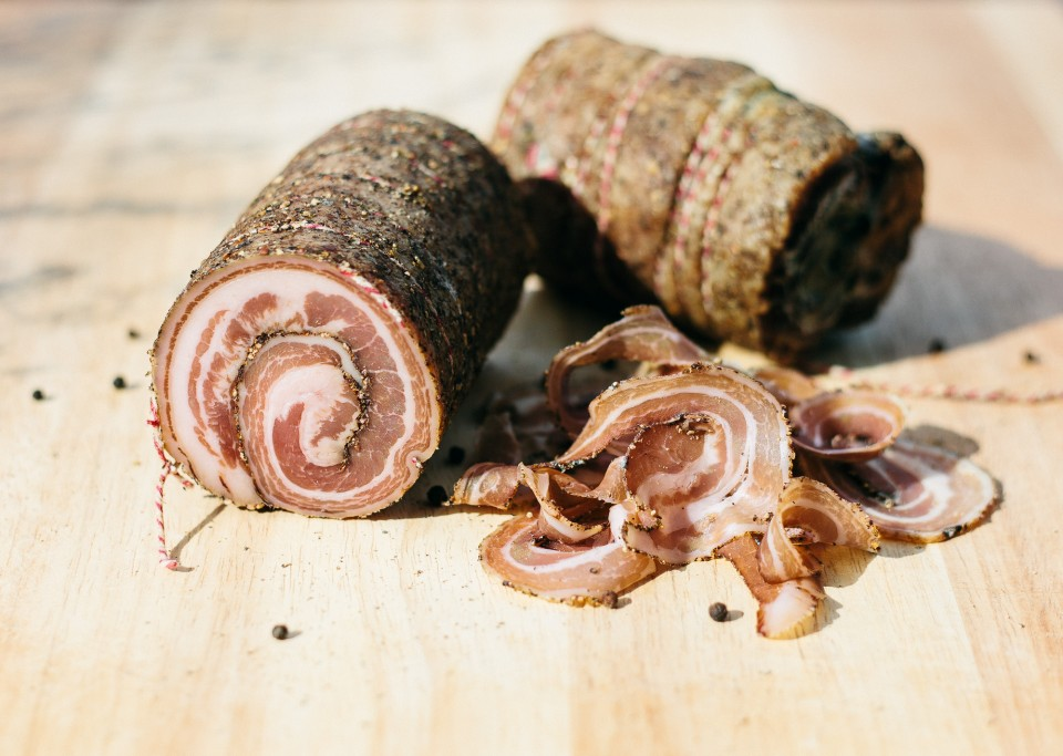 Sliced Pancetta Arrotolata