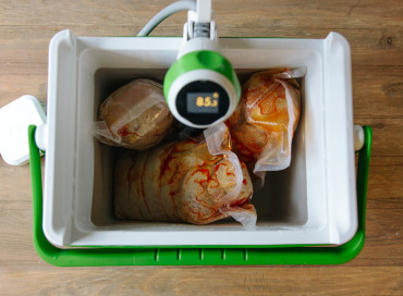 Fermenting salami sous vide with an immersion circulator